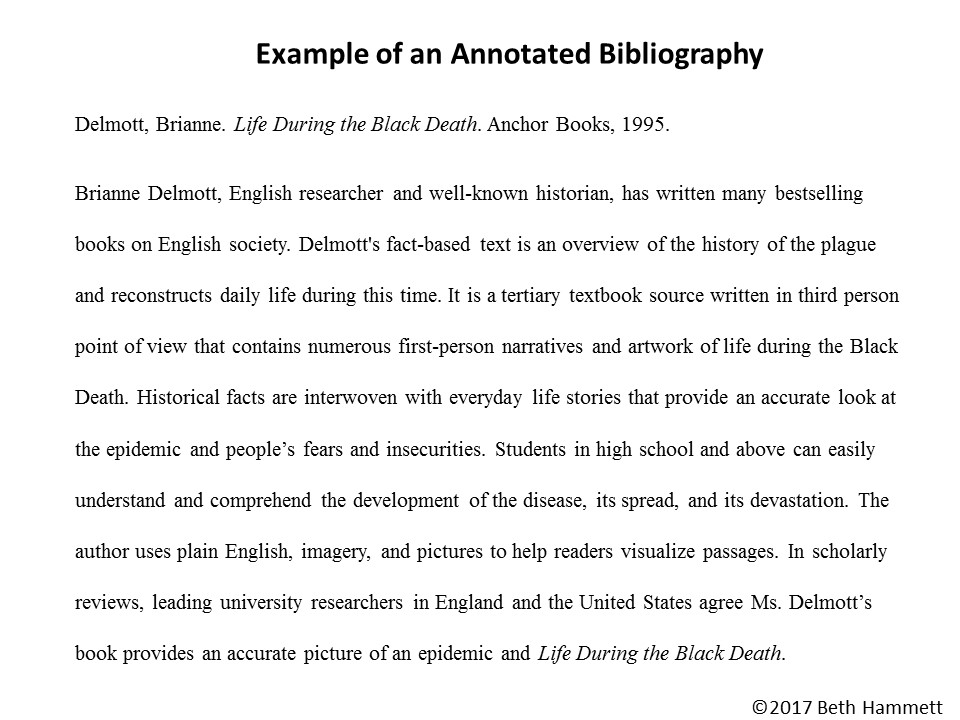 how to write a great annotated bibliography