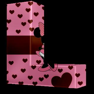 Alfabeto 3D Rosa con Minnie. Pink 3D Alphabet with Minnie.