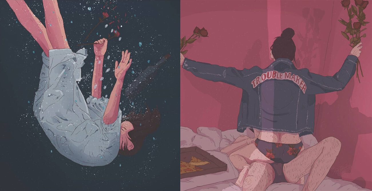 45 Creative Illustrations Depict How Elusive True Love Can Be