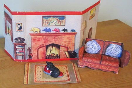 My Dolly's Home the cosy living room