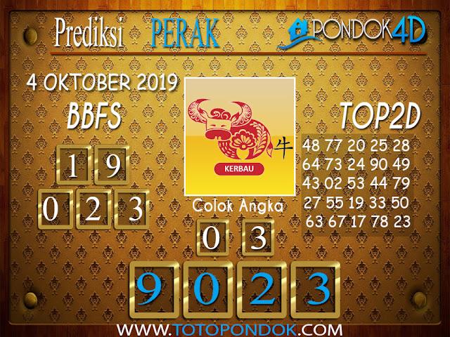 Prediksi Togel PERAK PONDOK4D 04 OKTOBER 2019