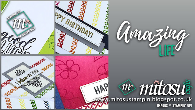 Amazing Life Stampin' Up! Card Ideas. Order Cardmaking Supplies from Mitosu Crafts UK Online Shop 24/7