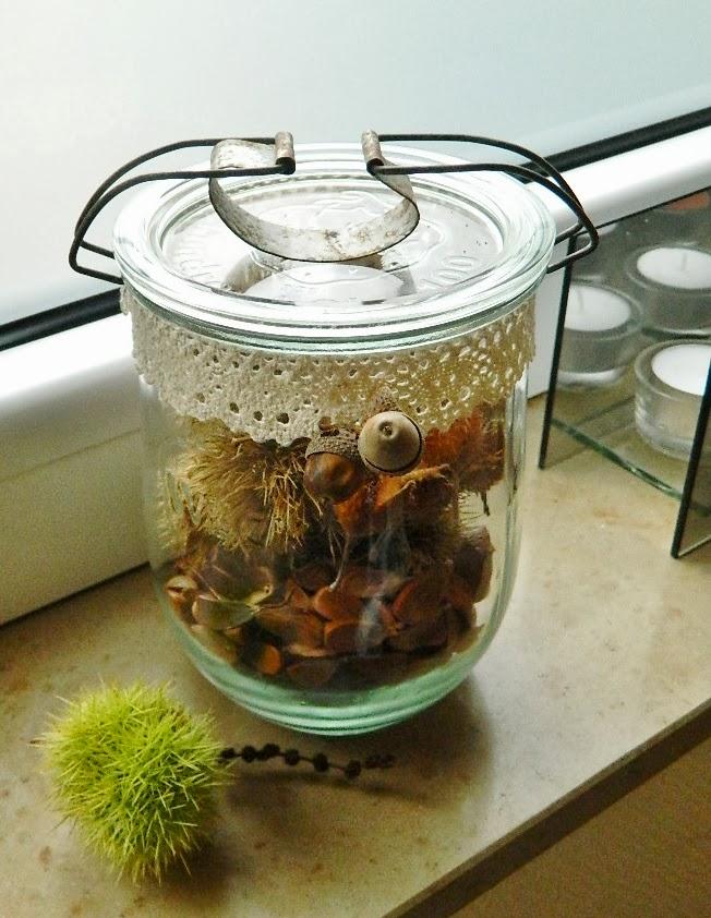 ninifee 39 s kleines cottage herbstdeko im glas. Black Bedroom Furniture Sets. Home Design Ideas