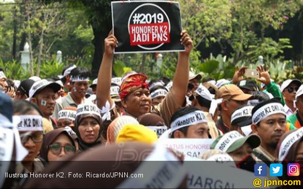 Kecewa Sama Jokowi, Honorer K2 Rapatkan Barisan Menangkan Prabowo - Sandi