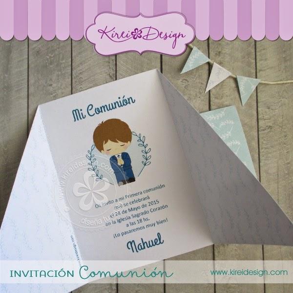invitaciones de primera comunion faciles