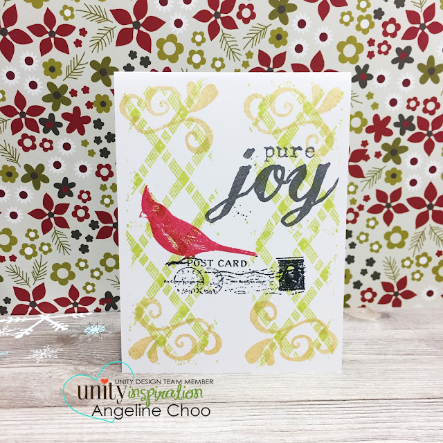 ScrappyScrappy: Christmas Cardinal with Unity Stamp #scrappyscrappy #unitystampco #stamp #card #cardmaking #papercraft #christmas #cardinal #holidaycard