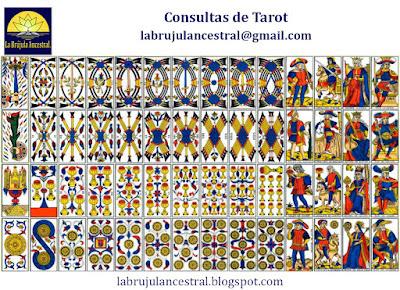 Palos de los Arcanos Menores del Tarot de Marsella