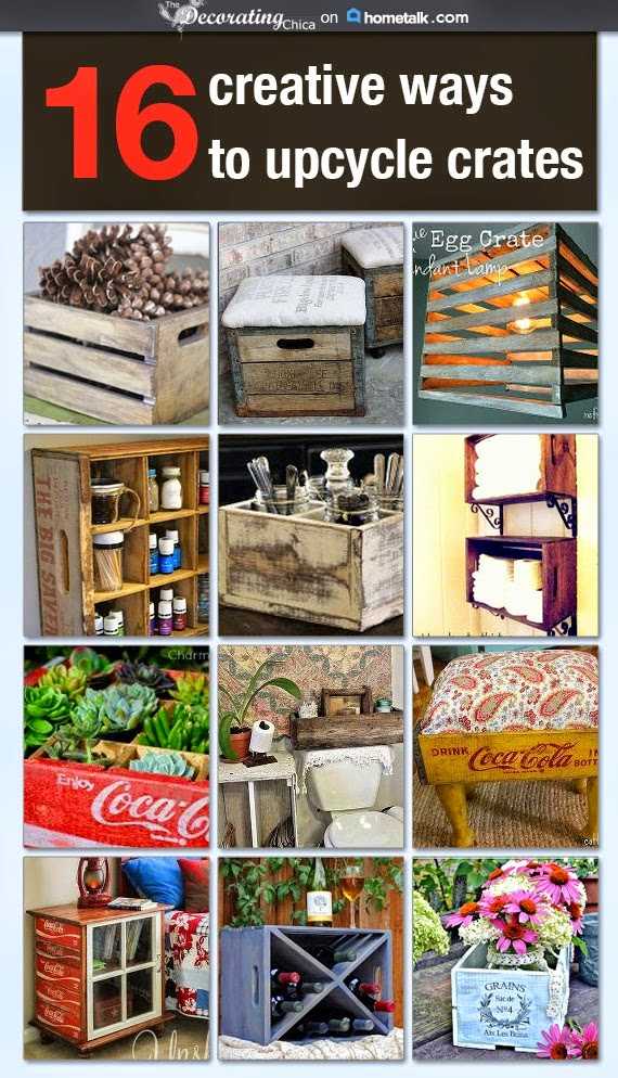 Upcycled Crates on Hometalk