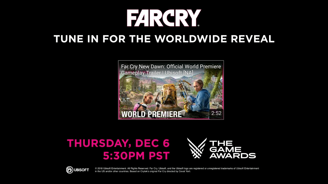 FarCry New Dawn revealed for the Game Awards 2018