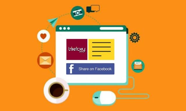 Gambar blog miring saat dishare ke facebook
