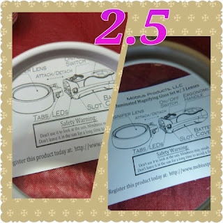 magnification glass set 2.5 lens