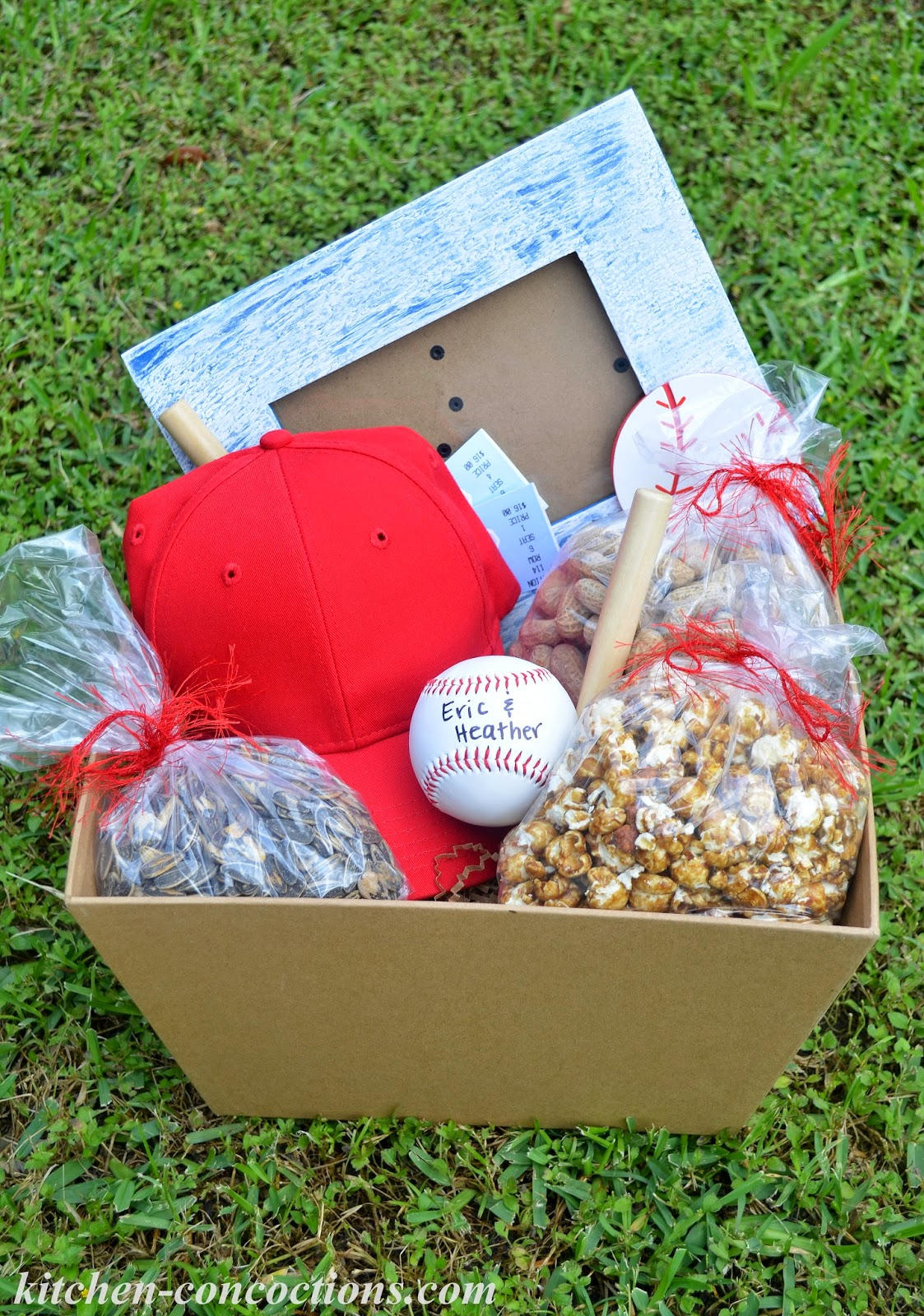 Baseball Date Night and DIY Baseball Gift Basket and Picture Frame ...