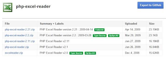 Cara memperbaiki error php-excel-reader