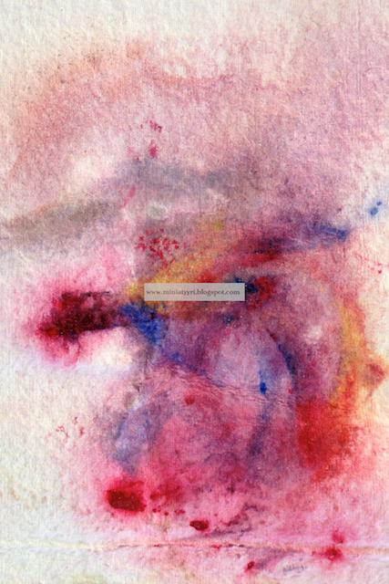 Kolmevuotiaan Merivesiakvarelli; Valmistumisvuosi 2012 - Seawatercolour painting, 2012