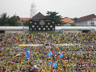 Himpunan Kebangkitan Rakyat Stadium Merdeka with VI in background