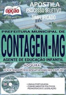 Apostila concurso Prefeitura de Contagem AGENTE DE EDUCAÇÃO INFANTIL