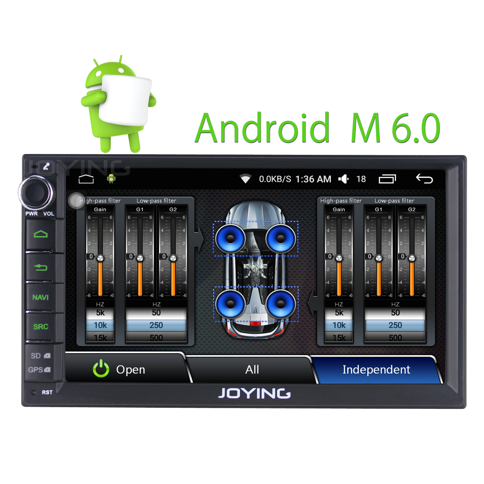Joying New Developed DSP built in Head Unit Android 6 0 Car