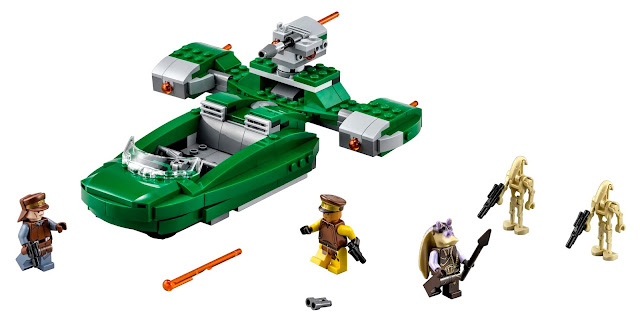 Todo lo que contiene el set de LEGO Star Wars - Flash speeder