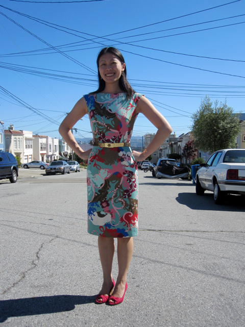 An ocean-y dress for the city surrounded by ocean on three sides!
