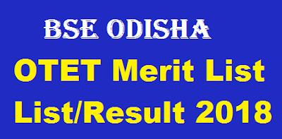OTET Merit List List Result 2018