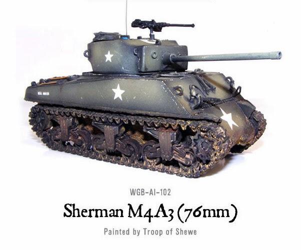 Tanks Sherman Tank Troop SW Warlord Games