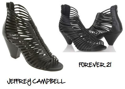 Clones 2011 sandalias Jeffrey Campbell Forever 21