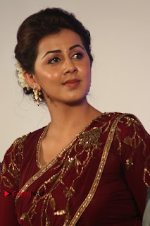 South Indian Actress Nikki Galrani Stills in Red Designer Saree at Maragadha Naanayam Tamil Movie Audio Launch  0006.jpg