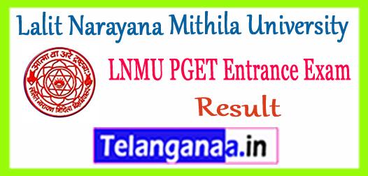 LNMU PGET Lalit Narayana Mithila University Entrance Result 2017 Merit List