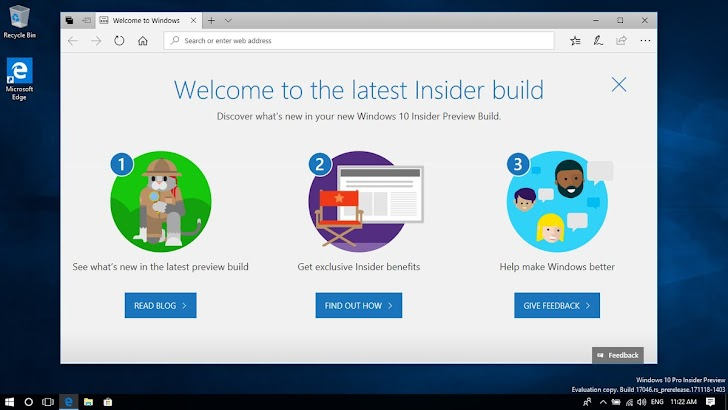 Windows 10 Insider Preview Build 17046 Tersedia Untuk Fast Ring dan Skip Ahead