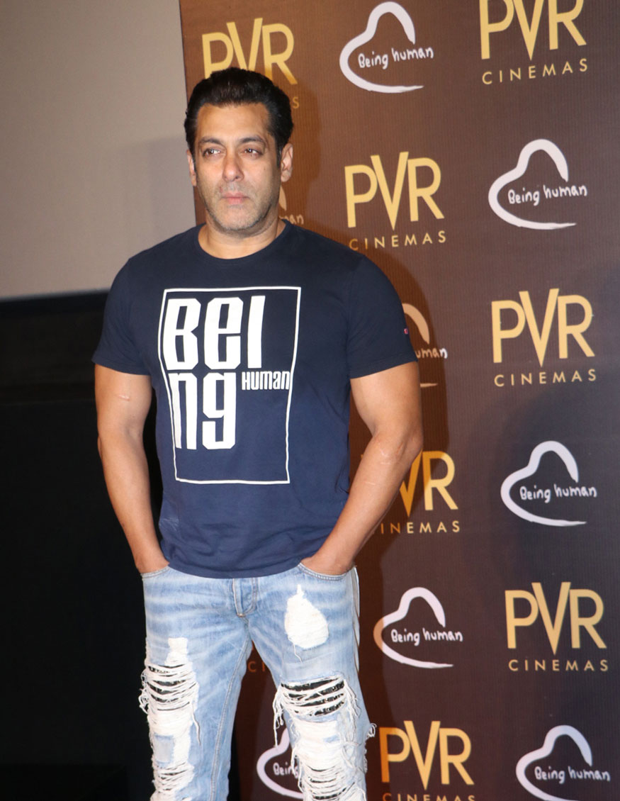 Salman Khan Spotted at PVR Phoenix In Mumbai