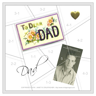 To Dear Dad Crazy Quilt Block from Vintage Vogue