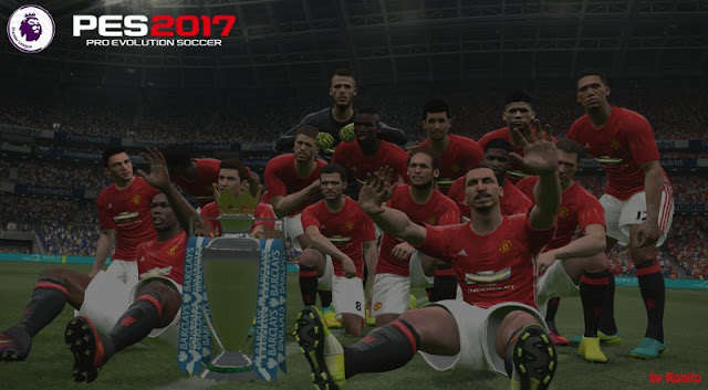 PES 2017 English Premier League, FA Cup, FA Community shield Trophy by Ronito