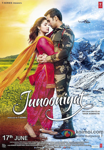 Poster of Junooniyat 2016 DVDRip 720p Hindi 850MB Watch online Free Download Worldfree4u