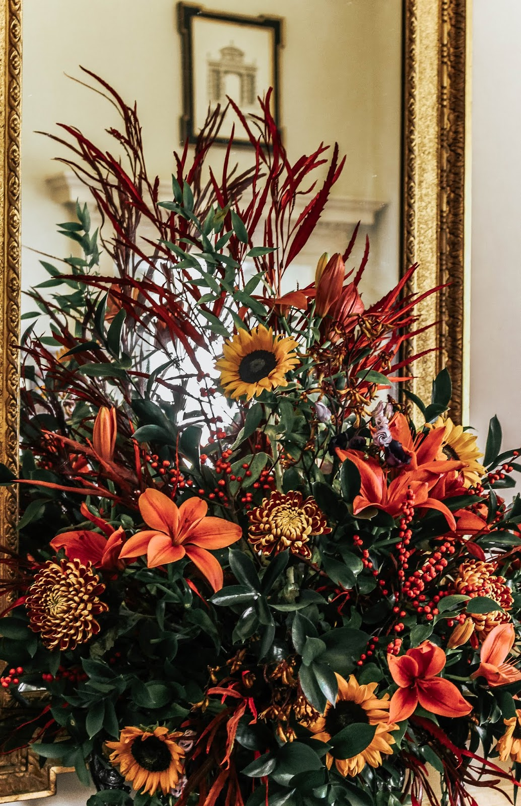 Autumn Bouquet Orange Yellow Luxury