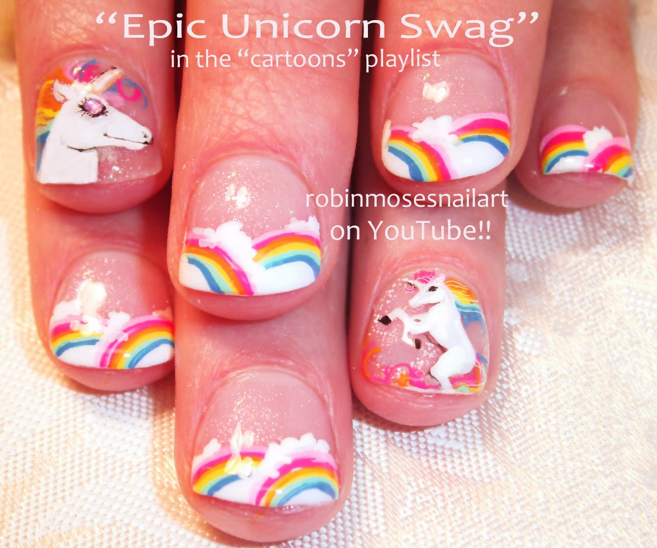 Strawberry Shortcake Nails Rainbow Brite Unicorn Nailuch Much More On My Playlist Of Cartoons Logos And Faces Right Here