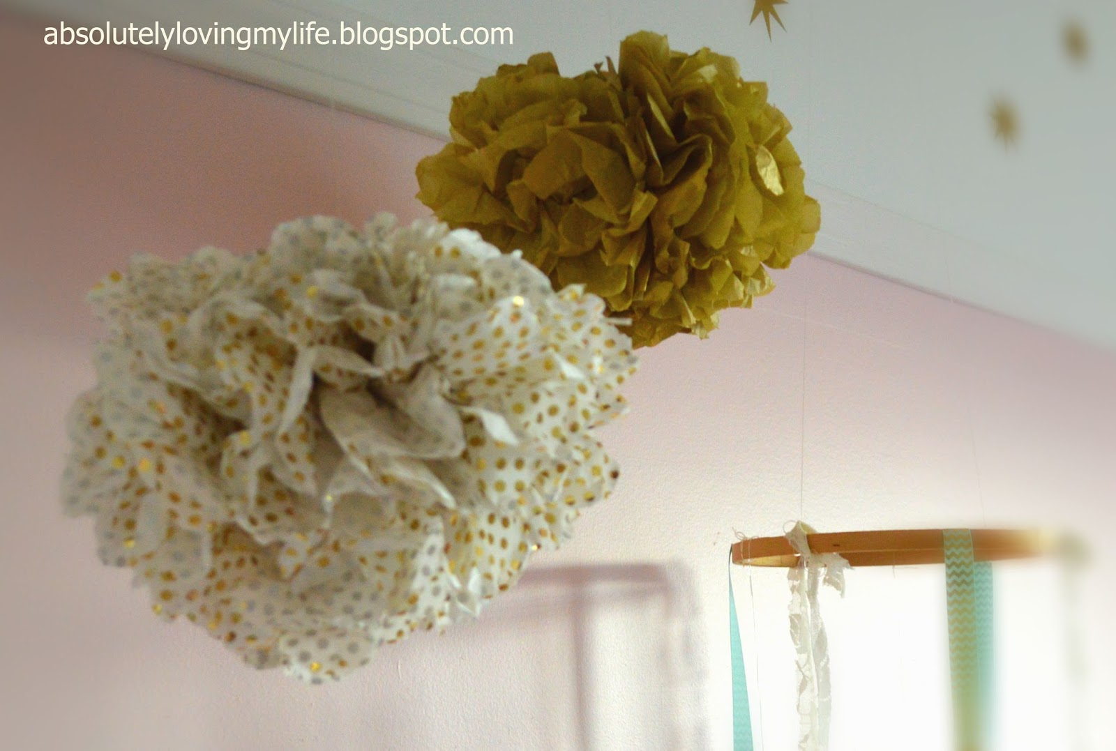 where can i buy tissue paper pom poms Tissue paper pompoms pom poms balls party wedding hanging ceiling  pink  and white tissue paper flower pom poms - choose 6 - 14 - 3 or 9 packs.