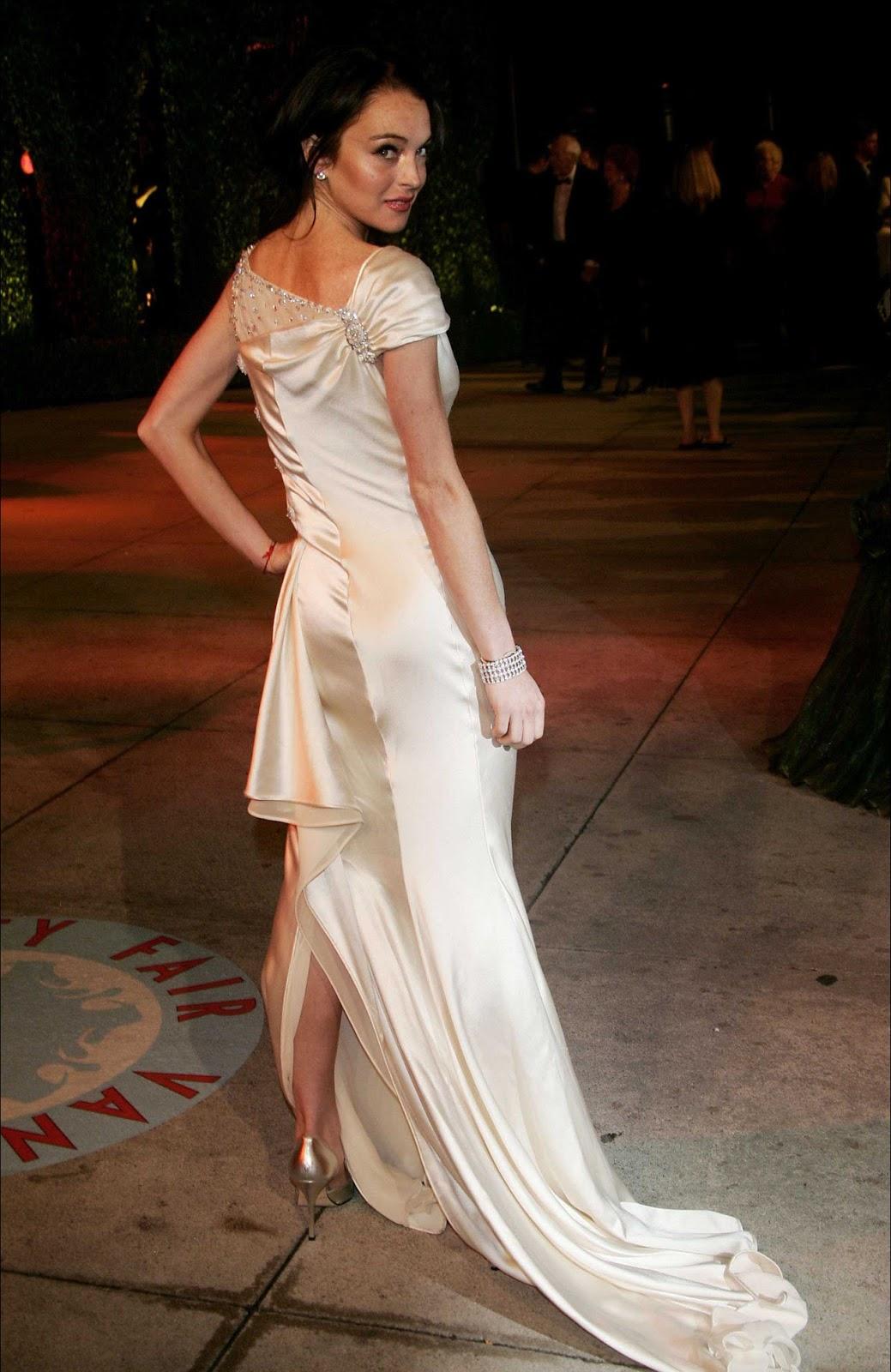 red carpet dresses lindsay lohan vanity fair oscar