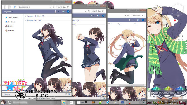 Windows 10 Ver. 1709 Theme Saekano by Enji Riz