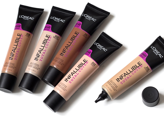 L'Oréal Paris Infallible Total Cover foundation Review Photos