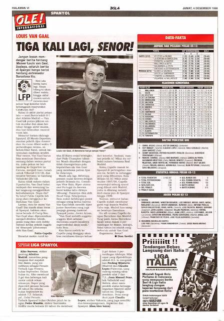 SPAIN LFP 1998 NEWS LOUIS VAN GAAL