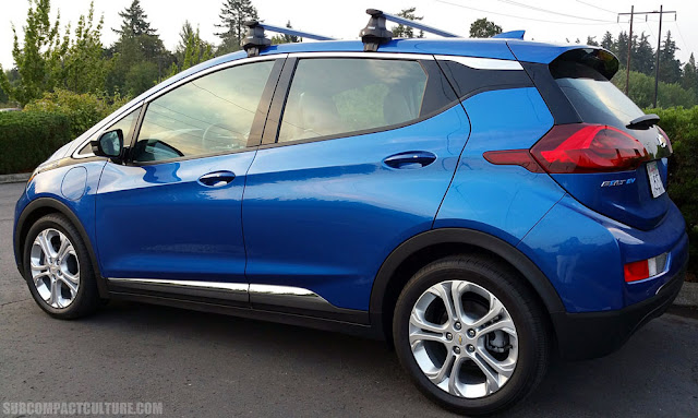 2017 Chevrolet Bolt LT rear angle - Subcompact Culture