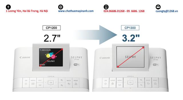 selphy cp1300 màn hình 3.2 inch