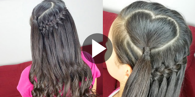 How To Create Waterfall Braid Heart Hairstyle See Tutorial