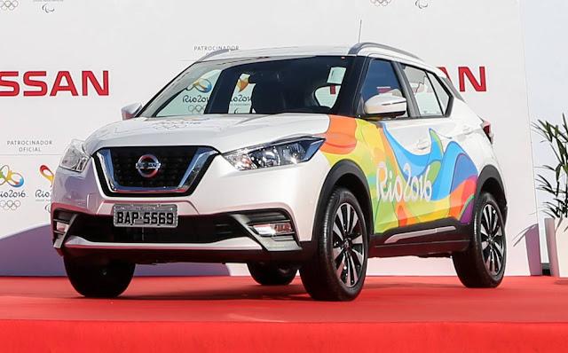 Nissan Kicks já faz parte da frota do Comitê das Olimpiadas 2016 - Rio