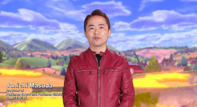Junichi Masuda Pokémon Day Direct February 2019 Shield Sword red jacket GAME FREAK