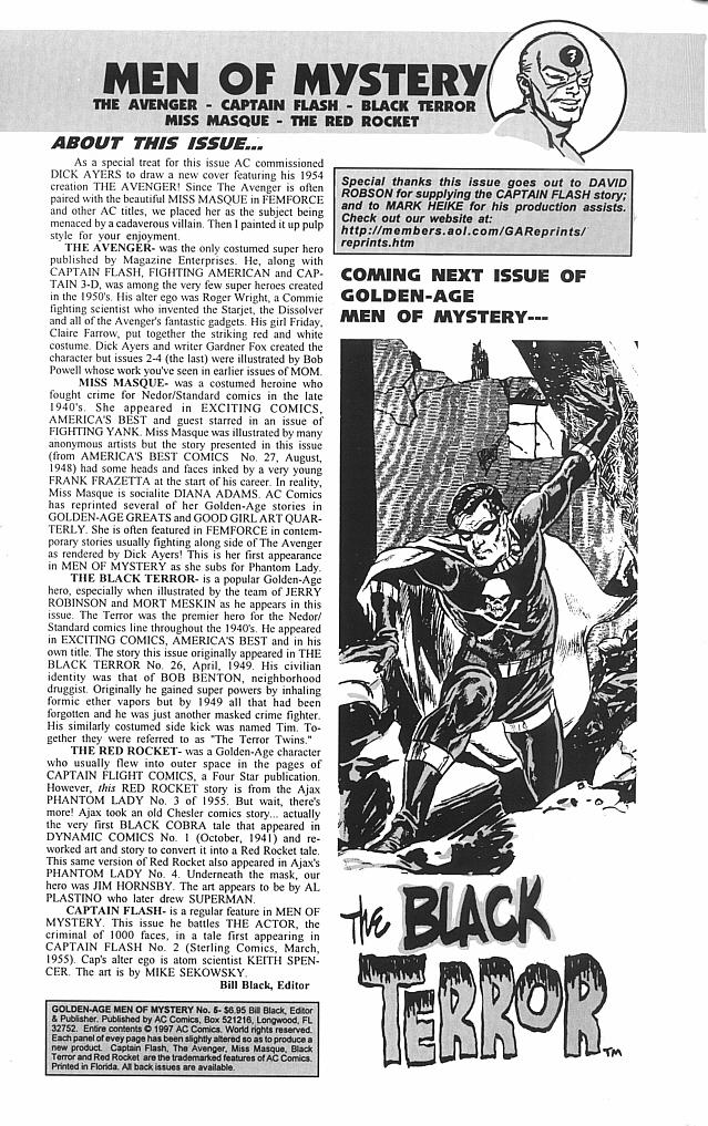 Read online Golden-Age Men of Mystery comic -  Issue #5 - 2