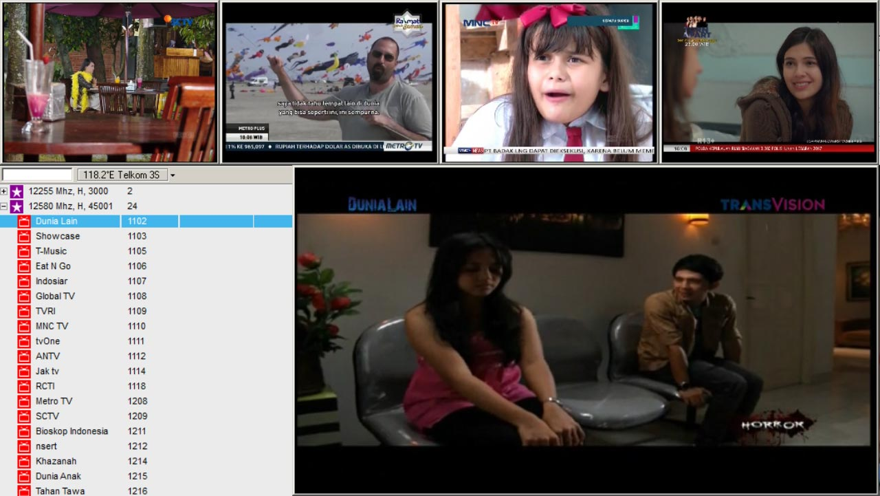 Daftar Channel Transvision Paket Siaran Parabola Terbaru
