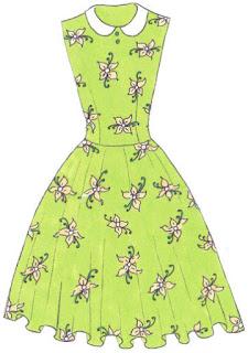 Langkah 8. Cara mudah menggambar Long Dress Motif Bunga