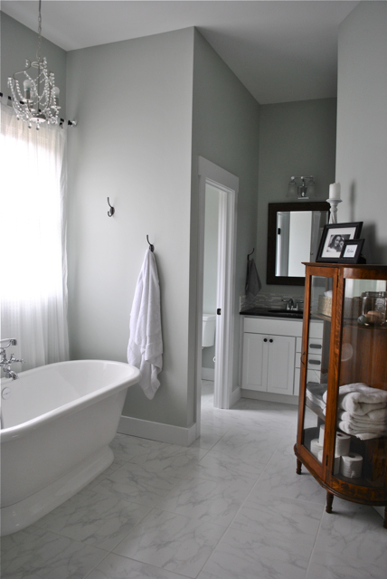 New Every Morning Master Bath Reveal Sherwin Williams