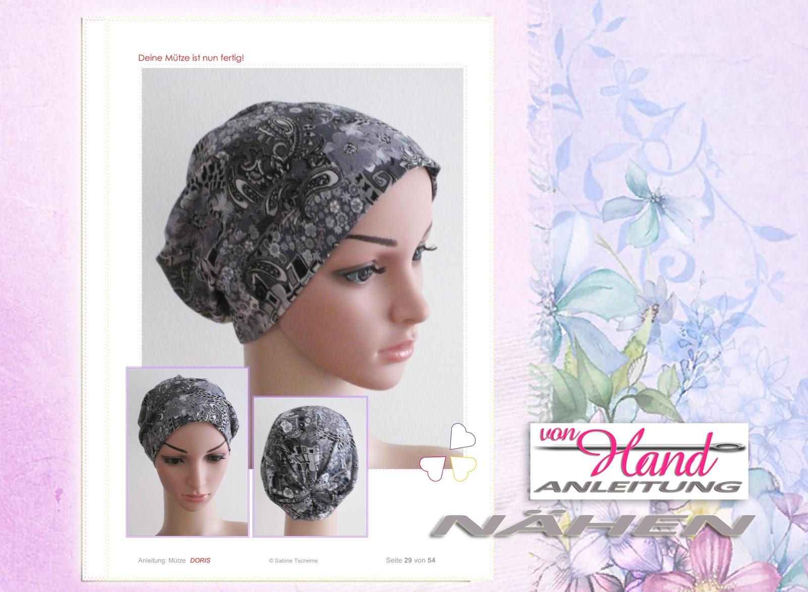 Kopfbedeckungen bei Chemotherapie: Nähanleitung: Chemo Mütze Beanie ...